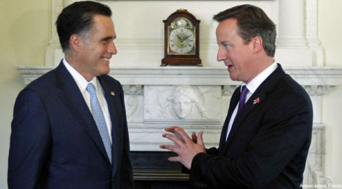 "Anger Games: Mittens is already pissing off the Brits before even arriving in London Mitt Romney's big international tour got off to a rocky start Thursday morning, as British officials including Prime Minister David Cameron took offense at the Republican candidate's criticisms over London's preparedness for the Olympics. Romney expressed wariness over England's ability to pull off the Olympics without a hitch, as well as reservations over security. Cameron fired back at Romney's concerns over security, and suggested British officials were dealing with more complex issues than Romney faced when he ran the show. ""We are holding an Olympic Games in one of the busiest, most active, bustling cities anywhere in the world,"" Cameron said. ""Of course it's easier if you hold an Olympic Games in the middle of nowhere."" Nor did the British press seem to appreciate Romney's advice. ""Mitt Romney questions London's readiness for Olympic Games,"" blared The Guardian, in a story that dwelt on Romney's criticisms of the Games. The Telegraph couldn't conceal its opinion of Romney's remarks, writing, ""if Mitt Romney doesn't like us, we shouldn't care,"" and accusing Romney of launching a ""charm offensive"" that is ""devoid of charm and mildly offensive."""