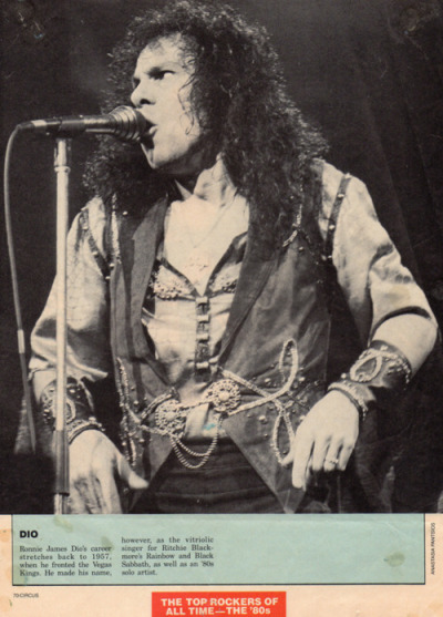 fromtheeyesofastargazer:  Dio being listed as one of the greatest rockers of the 80's