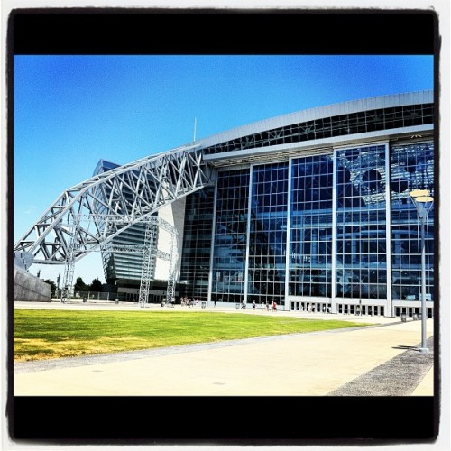 Getting out of the basement for sun! (Taken with Instagram at Cowboys Stadium)