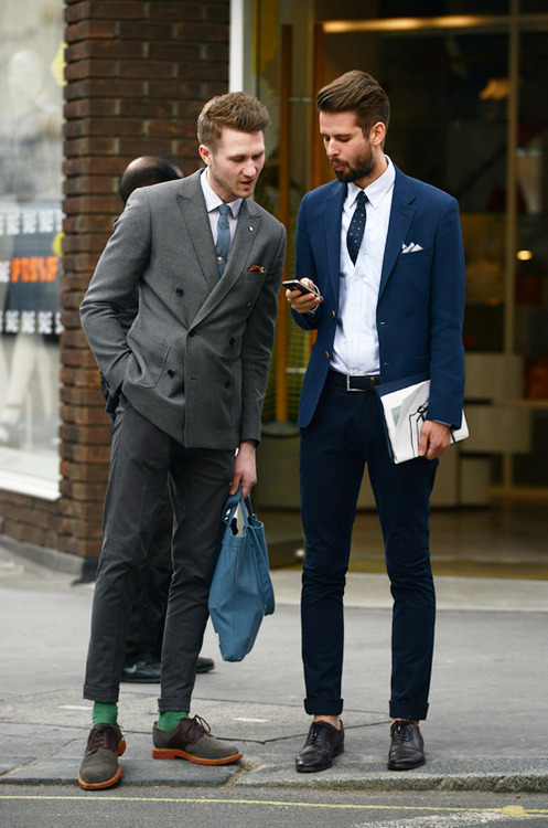 Well-dressed men.