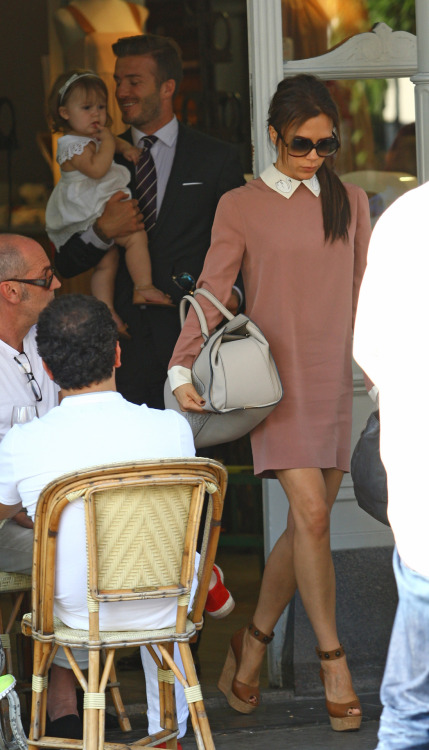 Harper Beckham went to lunch in London with her glamorous parents, both of whom are participating (at least ceremonially) in the Olympics. Yesterday, I got an emergency tetanus booster shot after I was afraid that Katie's cab ride idea might have lasting consequences on my health. I hate everything.