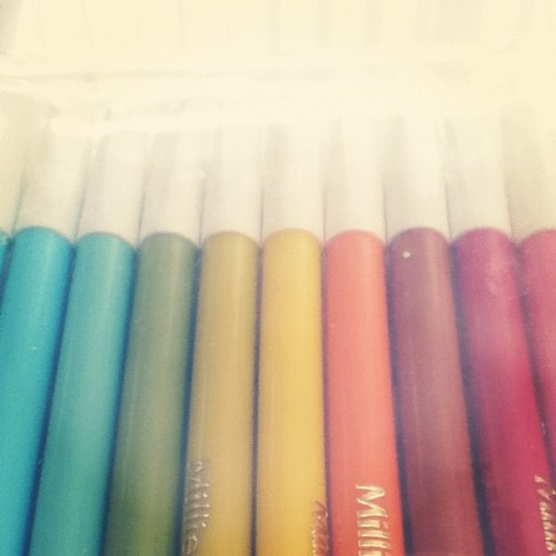 A #rainbow of #color. #pens #ink #art  (Taken with Instagram)