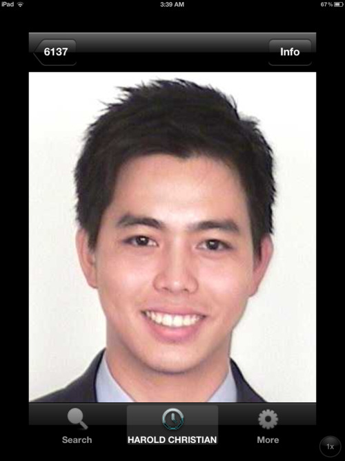 My work id photo :) I should try to be this skinny again!