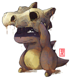 kamitzure:  pokemoncountdown:  Day 104 Cubone. It still has one of the most heart-breaking backstories :(   This picture makes me cry too :,(