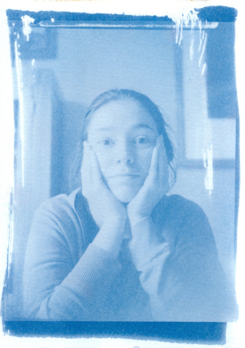 First cyanotype, using a 5 x 4 negative.  5 minute exposure in sunlight.