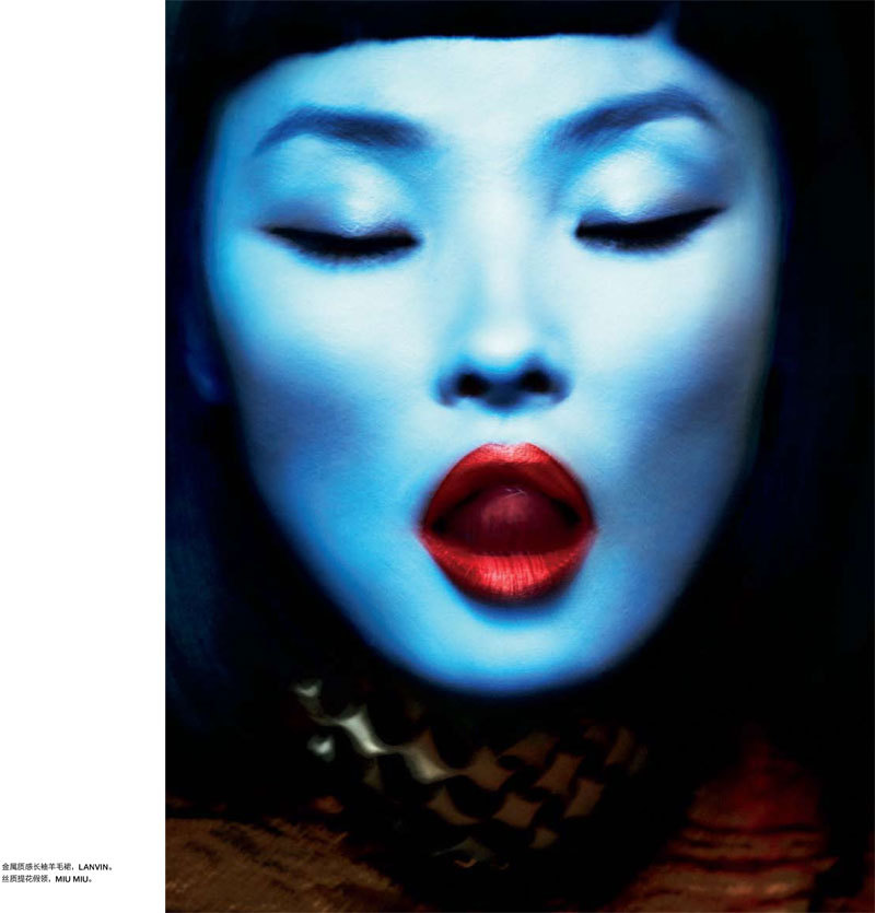 thehotdreamm:  Miao Bin Si by Txema Yeste for Numéro China
