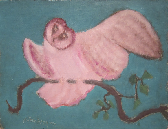 Milton Avery, Sitting Owl, 1950    (Joshua Abelow's Art Blog Art Blog. For Older ABAB click here)