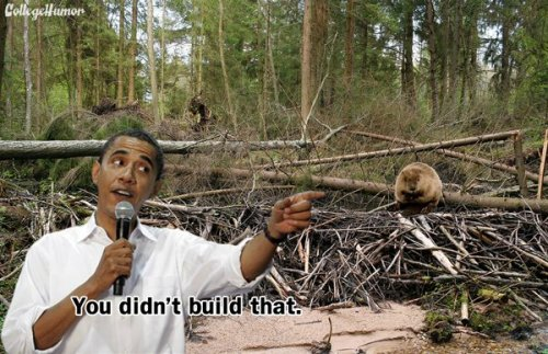 "Obama Says You Didn't Build Things [Click to continue reading] President Obama is in some hot water after his remarks last week in Virginia about job creation and small businesses (""If you've got a business, you didn't build that! Somebody else made that happen!""). Of course, Mitt Romney is having a field day. But the President wasn't just talking about businesses. There's a whole lot of stuff he says you didn't build."