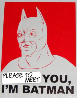 BATMAN SAYS: NO TO VIOLENCE.
