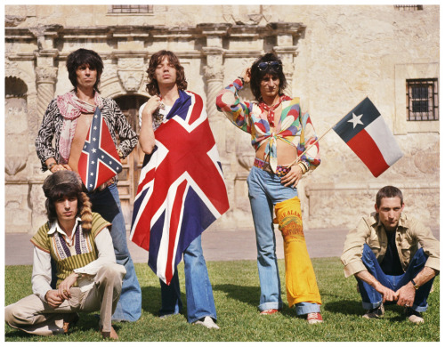 The Rolling Stones at the Alamo in Texas, June 1975. Photo by Ken Regan.