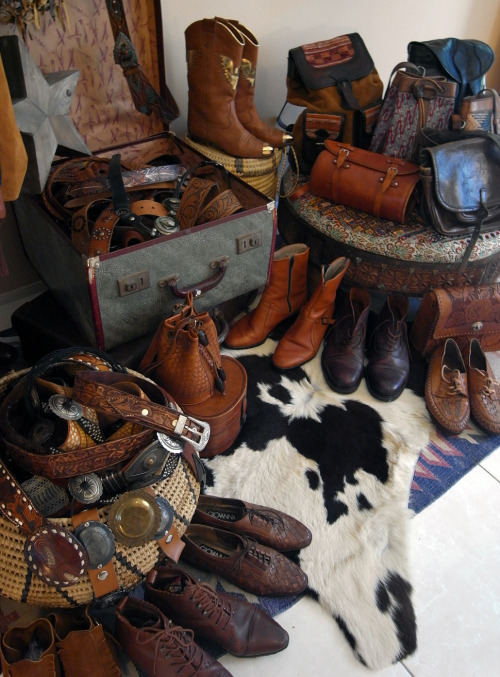 Western boots, belts, and bags. The good stuff. xx
