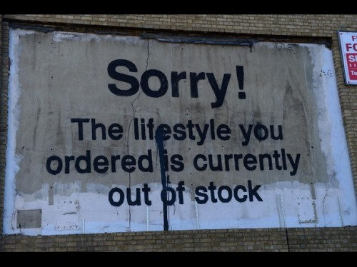 Recent street art by Banksy, London.