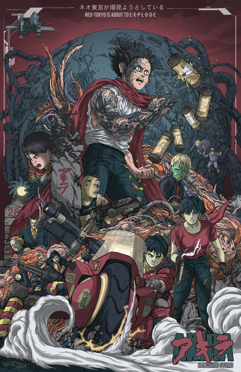 "gamefreaksnz:  ""AKIRA"" Poster Print Limited edition hand signed and numbered poster prints. Printed on high-quality gloss and shipped in protective tubes for best quality.  UGH DANG"