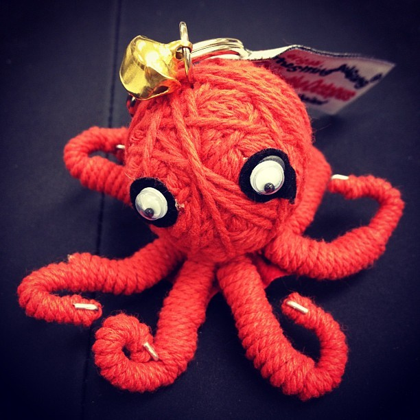 yumjennifer:  Octopus keychain! 10 friggin dollars lol #octopus  (Taken with Instagram)