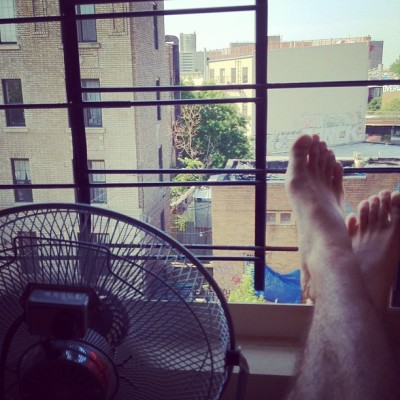 #summer, when thou feet should be kikethed up as much as possible #brooklyn (Taken with Instagram at chez moi)