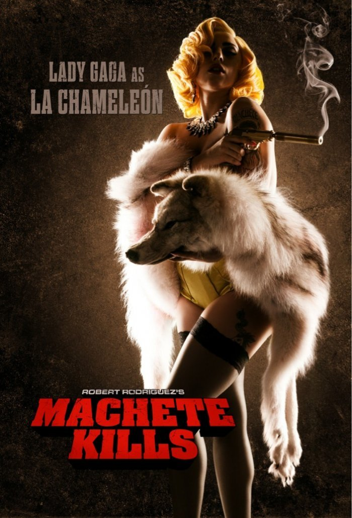 Lady Gaga as La Chameleon in Machete Kills (2013)  Well this is unexpected, and intriguing.