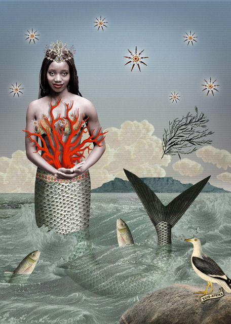 Karin Miller. Sea Changes. Sea Maiden With Coral.