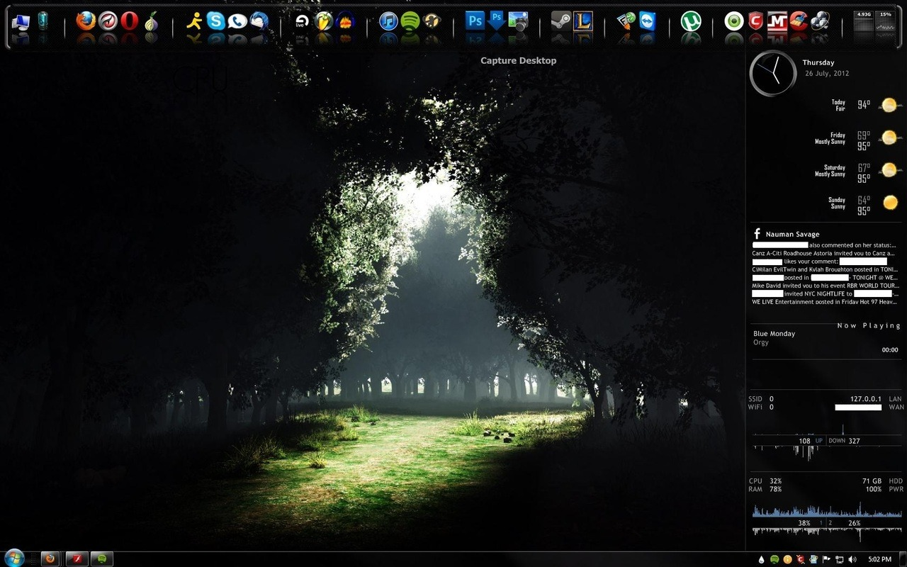 Some minor adjustments to my desktop.