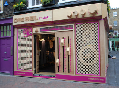 Diesel Female Front Store Design by StudioXAG (Xavier Sheriff and Gemma Ruse)