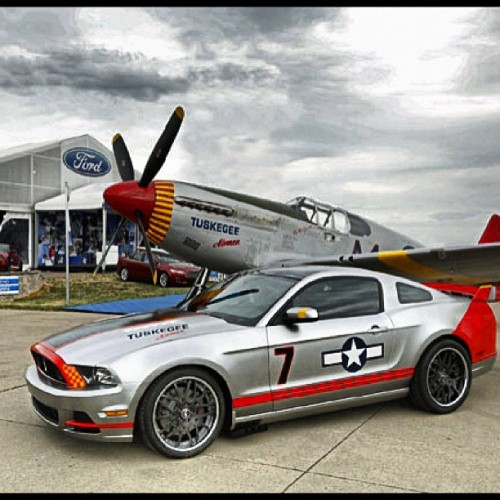 #ford has gotten so much #respect from me for this #edition #ford #mustang #tuskegee #airman #redtails #blackhistory #pride #muscle #musclecar #american #americanmuscle #hot #clean #fast  (Taken with Instagram)