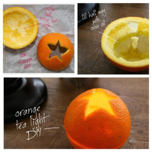 DIY Orange Tea Light