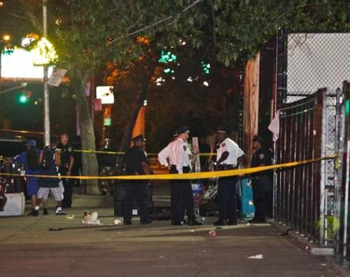 Six wounded in shooting at Rucker Park during Entertainers Basketball Classic A shooting at a famed basketball court: Six people were treated for gunshot wounds last night after a gunman opened fire on a basketball court at Harlem's famed Rucker Park. During a lull in the game, while players and coaches argued mid-court, a suspect in the crowd pulled a gun and opened fire. Six men were wounded, five on the court and one across the street, but all victims are expected to fully recover from their injuries. No word yet on a motive, and no arrests have been made at this time. (Photo via SportsGrid) source Follow ShortFormBlog: Tumblr, Twitter, Facebook