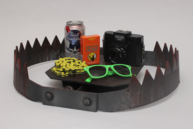 Hipster Trap, by Studio Shot.  More traps and photos in action on their Tumblr.