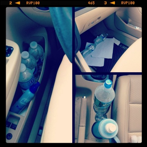 I hoard water bottles in my car. Help me, TLC! (Taken with Instagram)
