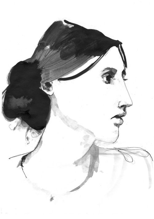 Virginia Woolf Portrait - Sarah Maycock via wolfeyebrows