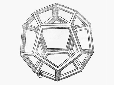 "Dodecahedron, from ""De Divina Proportione"" by Luca Pacioli, Published 1509, Venice"