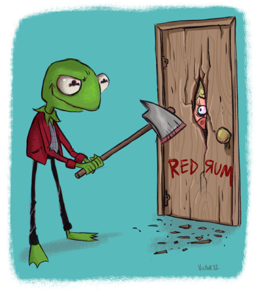 All Work and No Play Makes Kermit A Dull Boy by Jeff Victor
