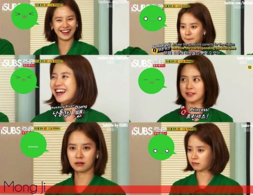 missrunningman:  Mong Ji expressions :D ㅋㅋ Source: Running Man Fb
