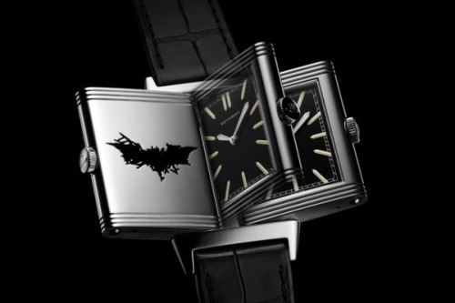 "ianbrooks:  Engraved Bat-Watch by Jaeger LeCoultre This Reverso Style watch was worn by none other than billionaire playboy philanthropist Bruce Wayne (don't bring up his parents!) in the fashionable halls of Gotham City. In tribute, Christian Bale wore it for the Nolan-directed autobiography ""The Dark Knight Rises"". I'm holding out for a version that conceals Shark-Repellent.   (via: Fashionably Geek)    I can't buy it… aw man."