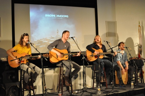 Imagine Dragons serenaded me at lunch today. Well me AND the entire office. But still. It was me and them.