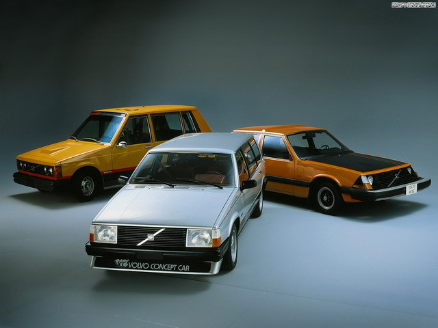 thatyellowvolvoguy:  Left to right: 1976 Volvo Taxi New York, 1980 Volvo VCC, 1972 Volvo VESC (source)