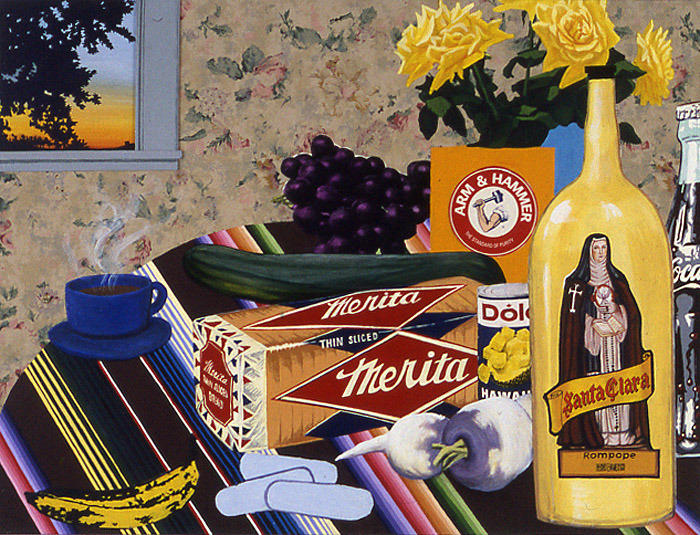 "lazhuntiez:  ""Still-life with Viracep"" Joey Terrill 2003"