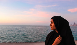 Fajr on the beach day. That's my twin sister btw