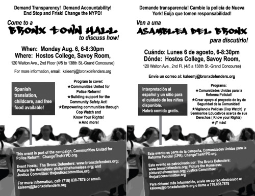 spread the word about this rad town hall in the bronx! #changethenypd