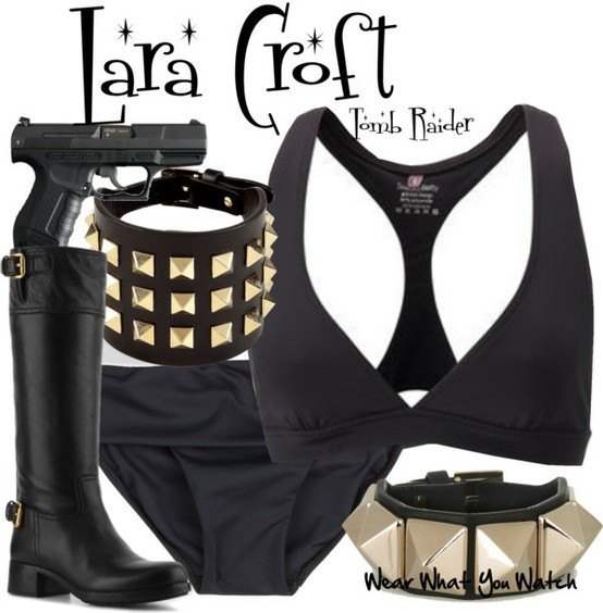 Angelia Jolie as Lara Croft - Click here to purchase items from the set above.