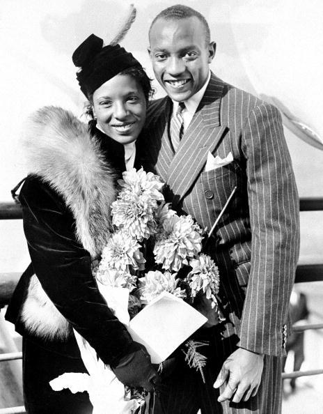 "vintageblackglamour:  Olympic icon Jesse Owens Jesse Owens and his wife, Ruth Owens, return home from the Olympics in Berlin on August 24, 1936. The son of a sharecropper and grandson of slaves, the Oakville, Alabama-born Mr. Owens won a record 4 gold medals at the 1936 games, annihilating the racist myth of white superiority in the presence of Adolph Hitler. Mr. Owens stated after his victories, ""When I came back to my native country, after all the stories about Hitler, I couldn't ride in the front of the bus. I had to go to the back door. I couldn't live where I wanted. I wasn't invited to shake hands with Hitler, but I wasn't invited to the White House to shake hands with the President, either."" Mr. Owens and his wife Ruth had three daughters and were married for 45 years before he died in 1980 at the age of 66 of lung cancer. Photo: by Joseph Costa/NY Daily News Archive via Getty Images."
