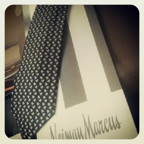 Hermes tie for the brother. Perks of the job. (Taken with Instagram)