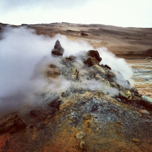 It's hot! Námafjall geothermal area. #iceland #roadtrip12  (Taken with Instagram at Namafjall Hverir)