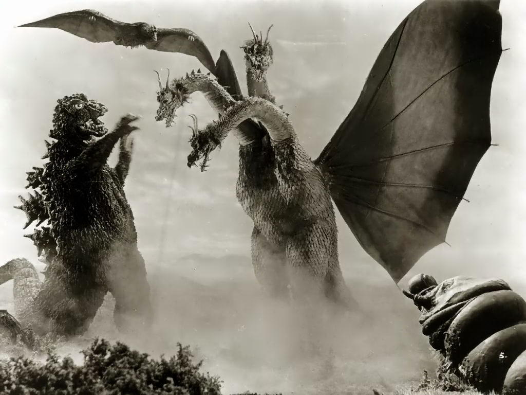 Godzilla, Rodan, Mothra, and King Ghidora. Source: Toho Studios