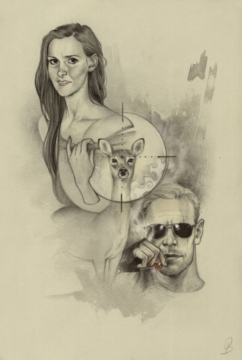 indigo-sunrise:  The Sniper and the Doe (Molly Hooper and Sebastian Moran) by Sash-kash on deviantART
