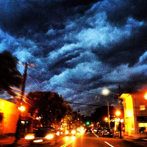 Big storm coming! #storm #clouds #longisland  (Taken with Instagram at Ralph's Ices)