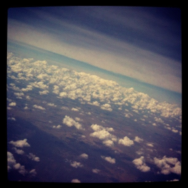 I'm above the fluffy clouds :D (Taken with Instagram)
