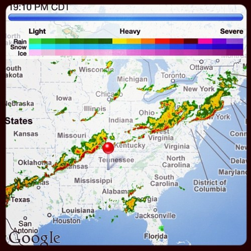 Severe Storms stretch from Northeast to Southeast (Taken with Instagram)
