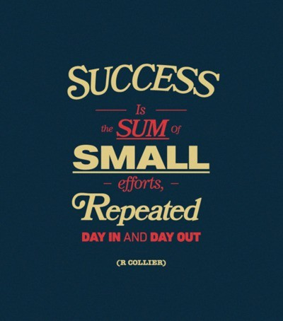 (via Entrepreneur) Success is the sum of small efforts repeated day in and day out. http://www.ericabrooks.com