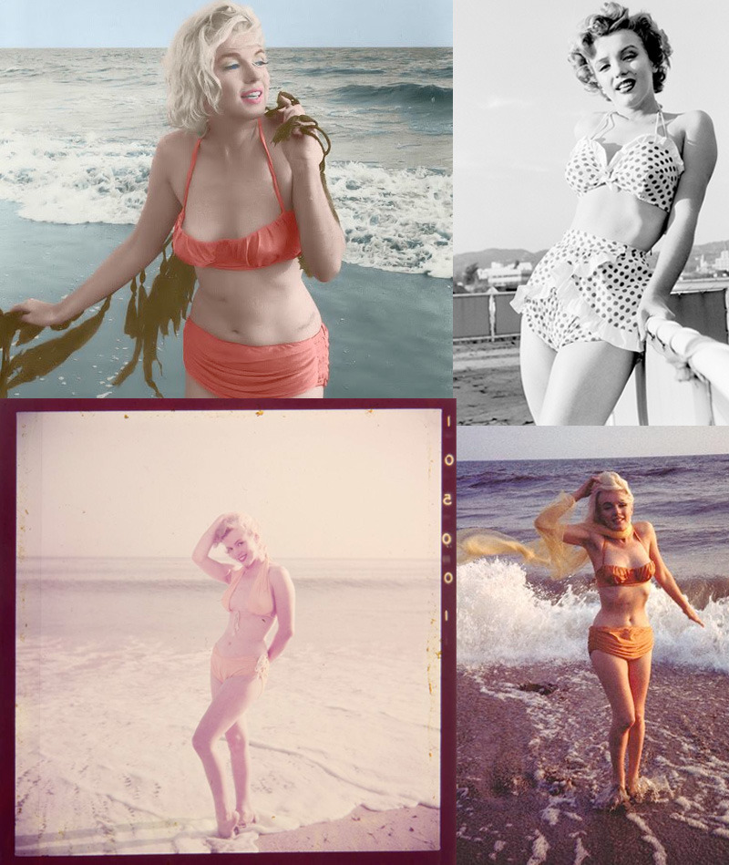 "southern-dreamer:  Marilyn Monroe is such an inspiration/role model/idol to me. Her and I have almost the same body type in that I have hips/curves like she does. For years I've been self conscious of wearing a swimsuit and/or bikini in public and next week, when I go to the pool, I'm wearing one. Looking at pictures of her, its giving me some confidence! She wasn't a ""stick"" in one but she's beautiful. If she can do it, so can I!! :)"