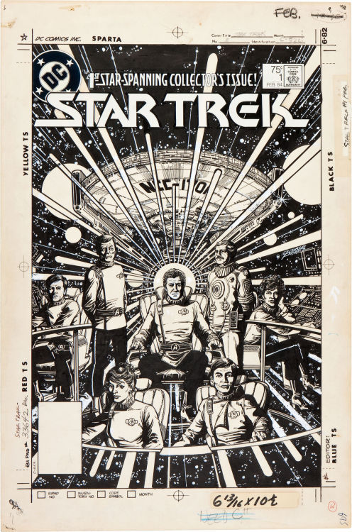 Original cover art by George Perez, Star Trek Volume 1, #1, DC Comics, 1984